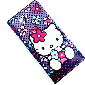 HELLO KITTY WALLET / PU LEATHER ORGANIZER Flowers